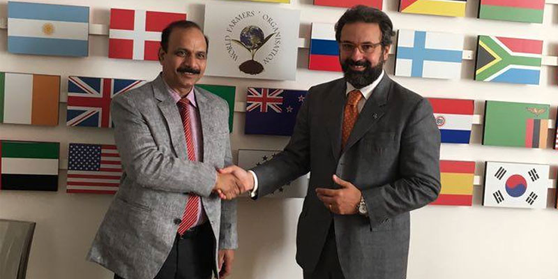 Dr Mj Khan Chairman, ICFA met with the Secretary General of World Farmers Organisation